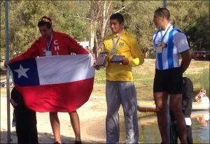 Uncas: ouro e vaga nos Jogos da Juventude (Foto: via Carlos Fonseca/Facebook)