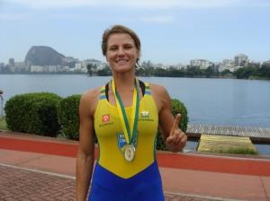Campeã sul-americana, Bianca Miarka é destaque do Botafogo no Single Skiff(foto: remo em voga)