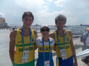 Arthur, Ana Luiza e Gabriel representaram o Brasil em Kazan