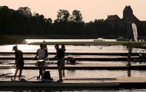 Fim de tarde em Trakai, na Lituânia