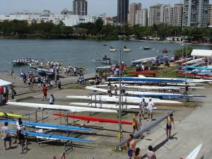 Eliminatórias e Poder Marítimo na raia olímpica (Foto: Remo em Voga)