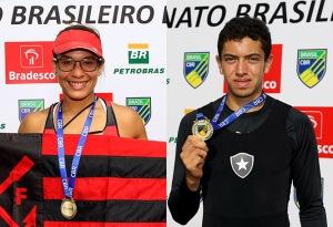 Ouro no Sênior, Beatriz e Uncas são destaques de Fla e Botafogo (Fotos: Satiro Sodre/SSPress)