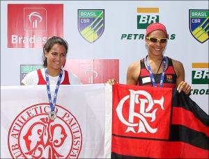 Vitória e Beatriz: ouro e prata no Brasileiro Jr. (Foto: Satiro Sodre/SSPress)