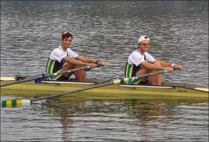 William e Diego: vaga na Final e em Toronto no Double Skiff (Foto: CBR)