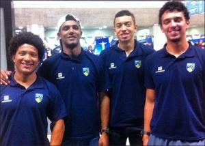 Paulinho (técnico), Tiago, Uncas e Augusto (Foto: reprodução Facebook)