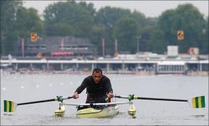 Luciano Luna: Final do Single Skiff AS (Foto: Igor Meijer/FISA)