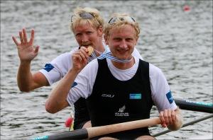 Murray e Bond: dois ouros no Mundial (Foto: Igor Meijer/FISA)