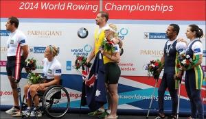 Michel e Josiane: bronze no Mundial (Foto: Detlev Seyb/FISA)