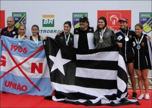 União, Botafogo e Flamengo: pódio do 2-FS23 (Foto: GN União /Facebook)