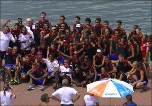 Atletas do Flamengo ganharam mais medalhas no Brasileiro (Foto: Remo em Voga)