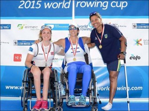 Claudia Santos: bronze no Single Skiff AS (Foto: CBR/Divulgação)