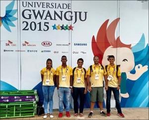 Equipe brasileira na Universíade em Gwangju (Foto: Divulgação)