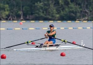 Fabiana venceu com o melhor tempo no Single Skiff PL (Foto: www.row2k.com)