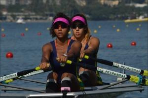Milena e Isabelle: entre as 12 melhores no 2x (Foto: Vicente Leal/Remo em Voga)