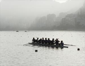 8+ da Itália treina antes das provas de quarta-feira (Foto: Vicente Leal/Remo em Voga)