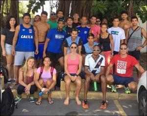 Remadores do Rio buscam solução para competir (Foto: Facebook de Fabiana Beltrame)