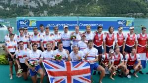 Vitória no Oito Com deu o título aos britânicos (foto: Detlev Seyb/MyRowingPhoto)
