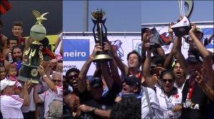 Fla, Botafogo e Vasco ganharam uma regata cada (Foto: Remo em Voga)