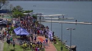 Lagoa recebeu bom público na 2ª Regata (Foto: Remo em Voga)
