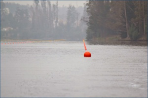 Lago Curauma: pronto para o Sul-Americano (Foto: Federacion Chilena de Remo/Facebook)
