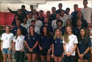 Equipe brasileira no Sul-Americano Sênior e Júnior (Foto: reprodução Facebook)