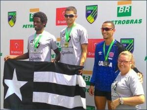 Pódio carioca no Single Skiff PL S23 (Foto: Eliane Geral)