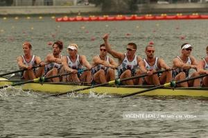 Britânicos já estão na final do 8+ (Foto: Vicente Leal/Remo em Voga)
