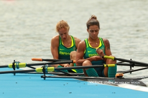 Fernanda e Vanessa: Final C do Double Skiff PL (Foto: Vicente Leal)