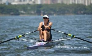 Fabiana Beltrame volta à Lagoa pelo Vasco (Foto: Vicente Leal/Remo em Voga)